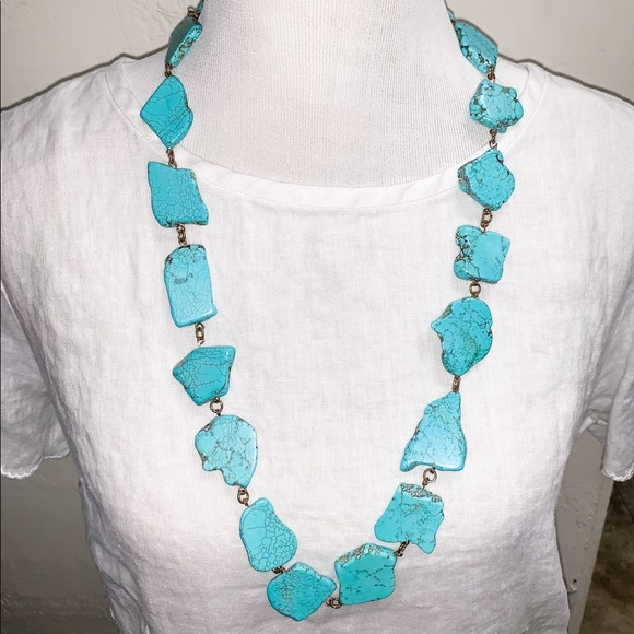 Jewelry - Turquoise marble stone necklace